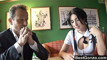 Schoolgirl Stracy has the hots for her tutor