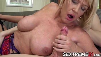 Big tits grandma banged by young dude