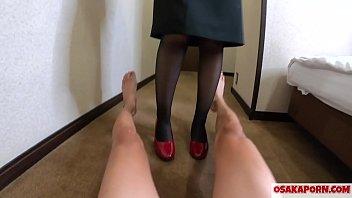 パンストで鬼の足こきとハイヒールで踏みつけ ストッキング美脚SEX ドSの足フェチ 個人撮影 ハメ撮りオリジナル 足こき 踏みつけver  ありす 10 OSAKAPORN