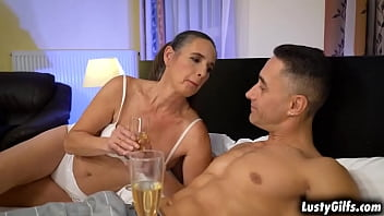 Kinky granny Mariana fucking a hot young stud and making his cock cums hard