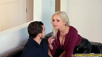 Cody is jamming his step moms milf pussy with his cock