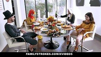 Family Stokes - Hot Family Thanks giving Orgy (BrooklynChase) (Rosalyn)