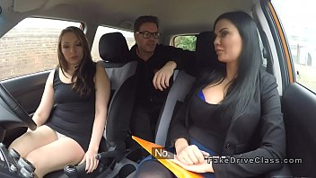 Driving student and examiner share dick