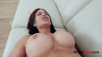 Brunette mom needs son to take control