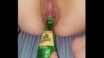 bottle meets pussy