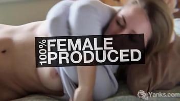 Sexy milf from Yanks Kassandra Wild fingering her shaved twat to orgasm