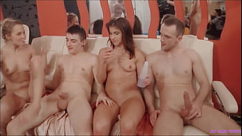 Group of horny people partying - this bitches never have enough