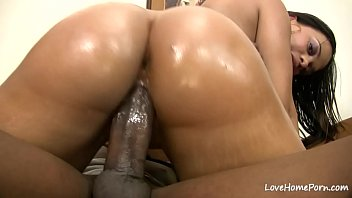 Hottie can never have enough of pleasing and riding his pulsating hard black wiener.