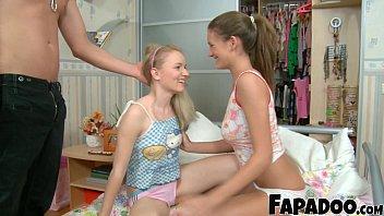 FAPADOO 4K – Astounding Step Sisters Sucking The Large Dick
