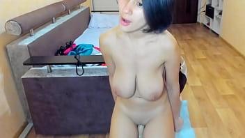 Splendid wet girl Myla Angel masturbates long, till orgasm!
