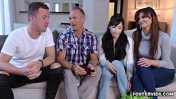 New foster dauther gets a welcome family groupsex