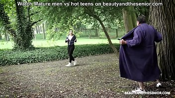 Horny dad creeps on young teens and fucks them in the park