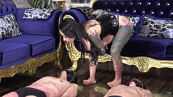 Japanese Dominatrix Youko makes the slaves learn to smell her