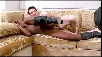 Black babe Yasmine tastes white cock in all positions on the couch Thumbnail