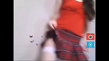 cam girl strip and play with pussy in white stockings