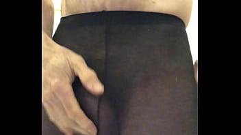 Pantyhose male masturbation
