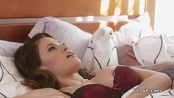 Big tit housewife cheats with a hot brunette