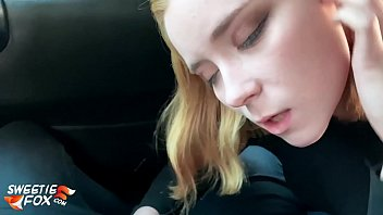 Babe Blowjob Cock and Cum in Mouth in the Car Instead of Paying for the Fare