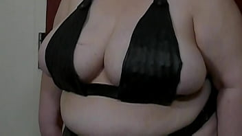 Granny tits t. with a spiked bra