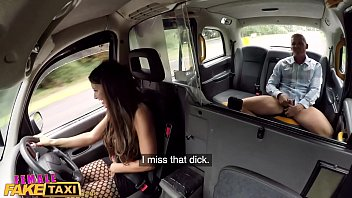 Female Fake Taxi Threesome with an Asian with Big Tits