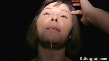 Dirty Milf dogging and getting covered in cum