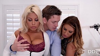 LA Rockstar sluts August Ames and Bridgette B in Hot Threesome