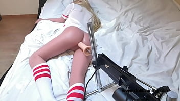 Hot Sex Doll Fucked By Fucking Machine! Nice'n'slow anal! [Part 1] wwwdolltraining.com