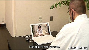 Watch Asian office lady Ruri masturbates on a webcam session preview