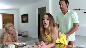 Dad fucks Daughter In front of Mom
