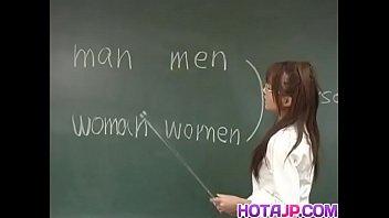 Manami Suzuki is pumped in the classroom
