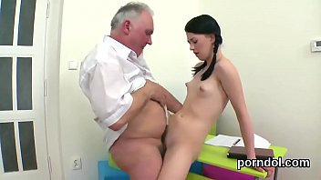 Ideal schoolgirl is seduced and shagged by her senior instructor