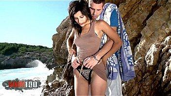 Young Gabrielle Neva romantic fuck at the beach