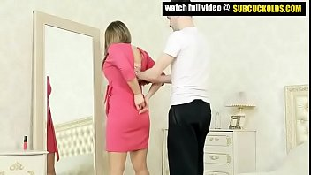 Dominating Russian wife and her submissive cuck