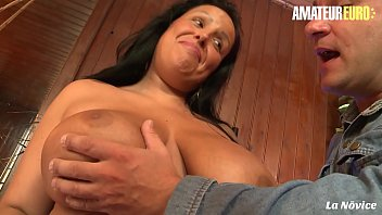 AMATEUR EURO - Amateur Busty Brunette Tatyana Blows And Fucks Hardcore On Cam