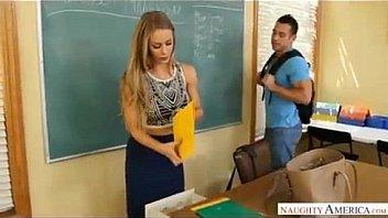 Big tits teacher Nicole Aniston