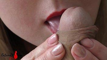 Hot Woman Passionate Sucking Dick and Facial - Closeup