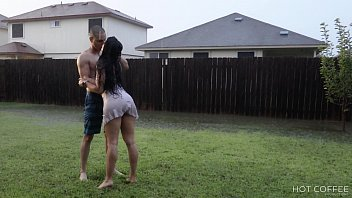 Sex outside in the rain (we're sure the neighbors saw us)