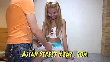 Asian maid sucks and fucks