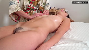 First time sensual massage for Dora Matrasova