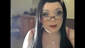 Chubby UK Domme Wearing Glasses Smoking A Cig