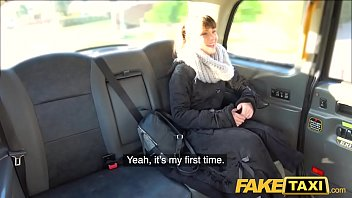 Fake Taxi Drivers thick cock cums all over hairy bush