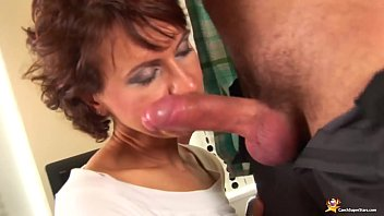 redhead skinny mom needs a big cock deep inside her wet shaved pussy hole