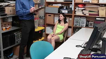 Teen pornstar is caught by LP officer shoplifting in the store.The officer tells her that since shes a pornstar if he can fuck her he wont call the cops and he will let her go.She starts sucking his cock and lets him fuck her tight pussy.