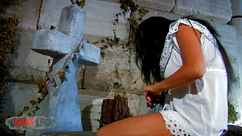 Cementery anal fucking with Damaris and Terry Kemaco