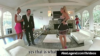 Fat Dick Husband Alex Legend stuffs his big cock into French Maid Savana Styles & hot wife Courtney Taylor joins in on the fuck party fun in this cock sharing threesome!