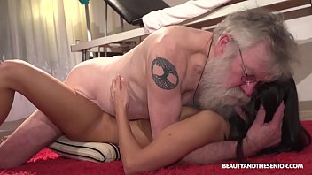 Horny Girl Shows Old Timer How It's Done
