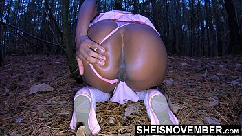 Sneaking Away With My Stepdad, Fucking Him In The Woods While My Mom is At Church, EbonySlut Msnovember YoungVagina Pounding By Big Dick Stepdad, Thong Deep In Her Ass on Sheisnovember Stepdaughter Fauxcest xxx