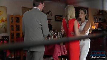 Mature wife Katie Morgan cheats in restaurant bathroom