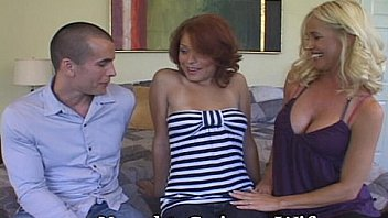 Sweet Redheaded Coed Joins Mature Couple