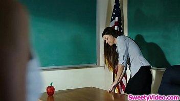 Lesbian milf teacher toying sub teachers ass